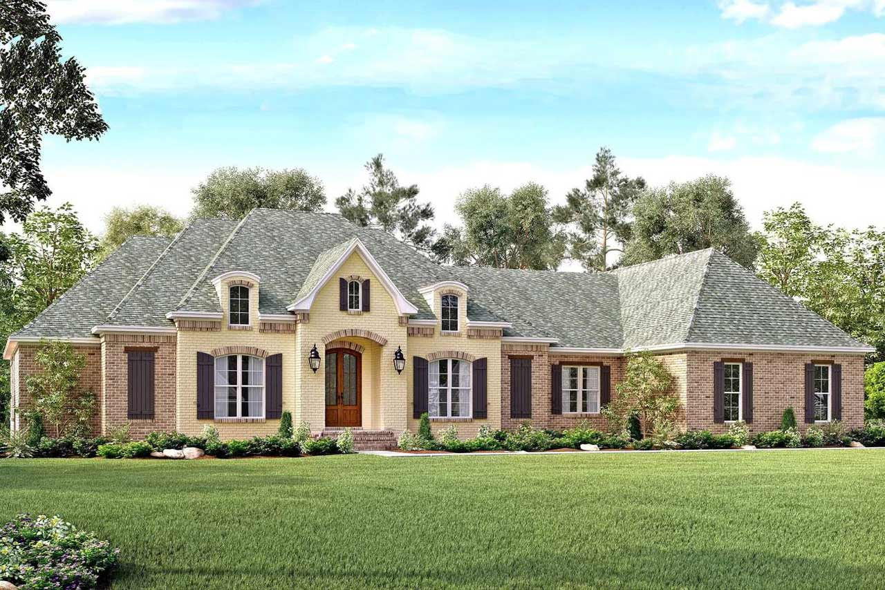 French-country Style Floor Plans Plan: 50-146