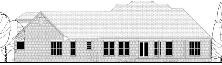 Rear Elevation Plan: 50-146