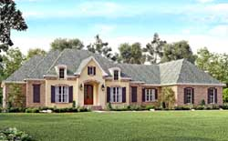 French-Country Style Home Design Plan: 50-146
