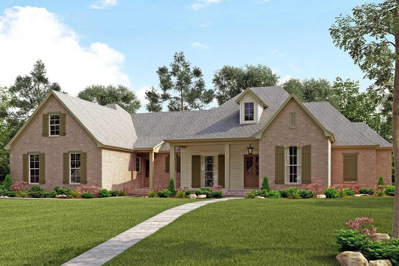 French-country House Plan - 4 Bedrooms, 3 Bath, 3195 Sq Ft ...