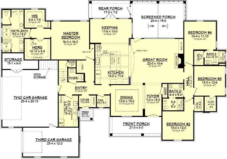 Main Floor Plan: 50-147