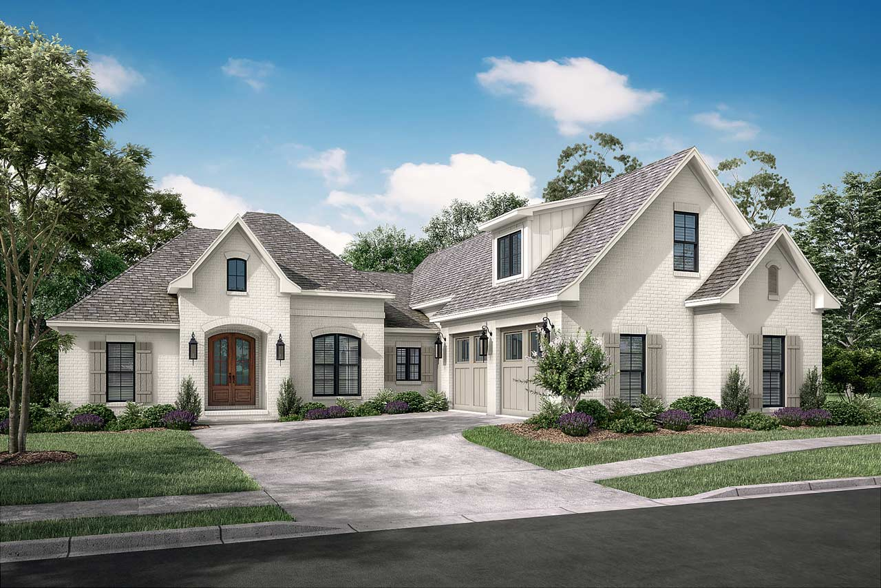 French-country Style Home Design Plan: 50-149