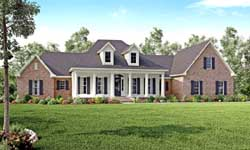 Country Style Home Design Plan: 50-151