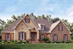 French-Country Style Floor Plans Plan: 50-152