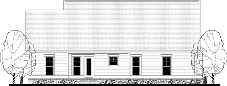 Rear Elevation Plan: 50-154