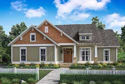 Craftsman Style Home Design Plan: 50-154