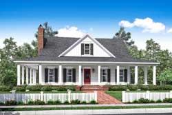 Modern-Farmhouse Style Home Design Plan: 50-155