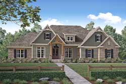 Craftsman Style Home Design Plan: 50-160