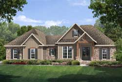 French-Country Style Home Design Plan: 50-171