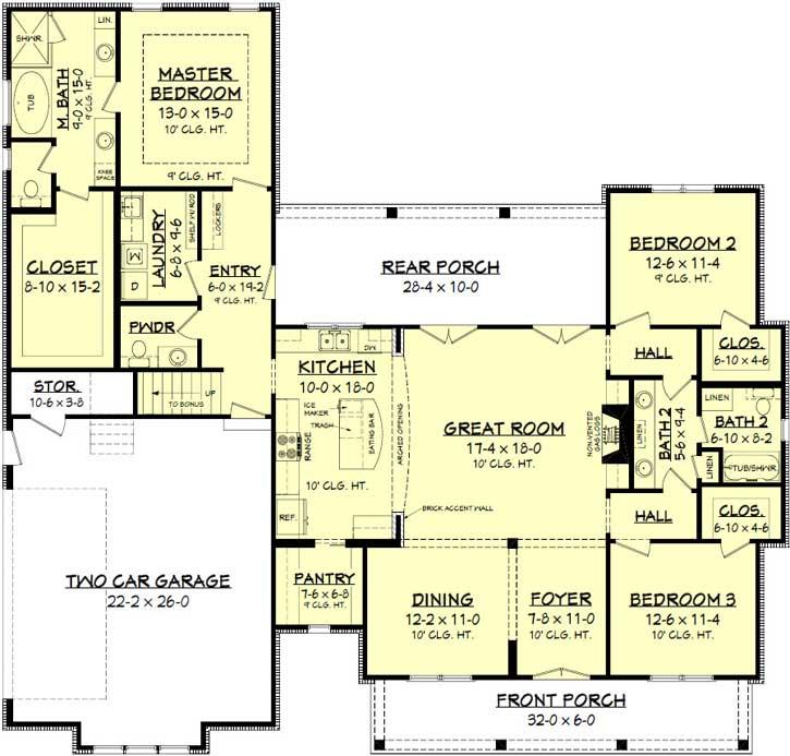 Modern-farmhouse Style Floor Plans 50-188
