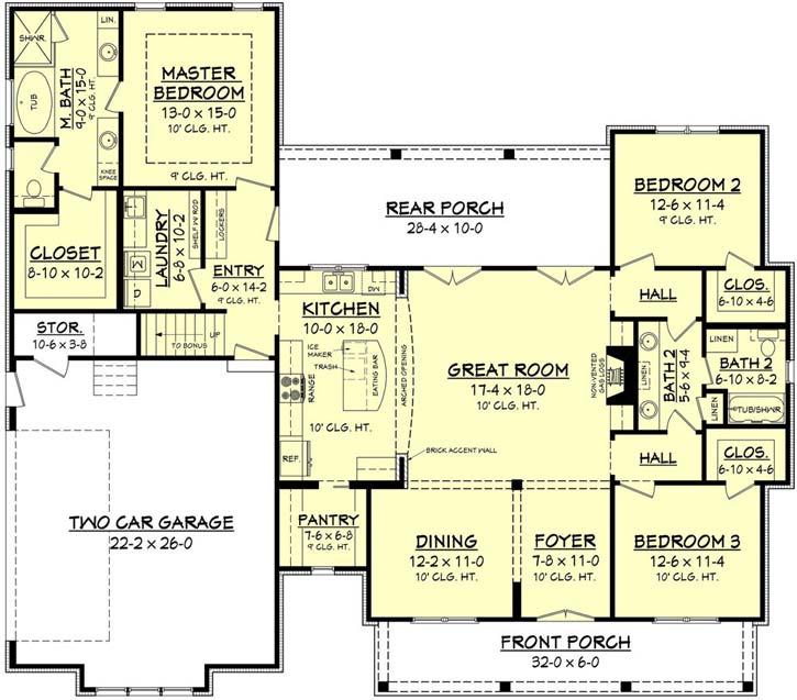 Main Floor Plan: 50-188