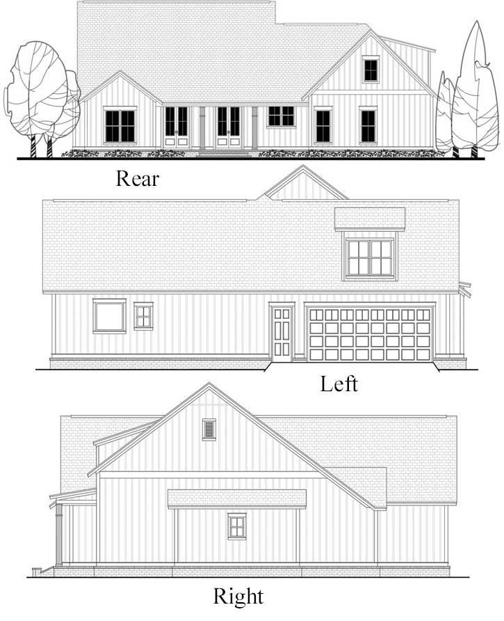Rear Elevation Plan: 50-188