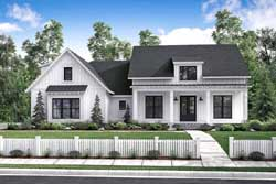 Modern-Farmhouse Style Home Design Plan: 50-188