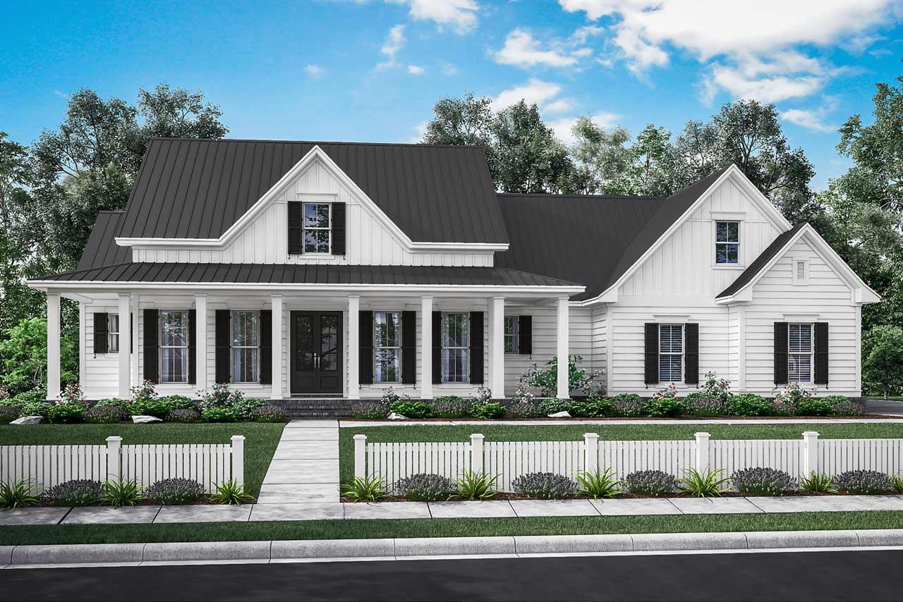 Modern-farmhouse Style Floor Plans Plan: 50-202