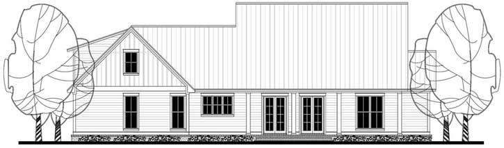 Rear Elevation Plan: 50-202