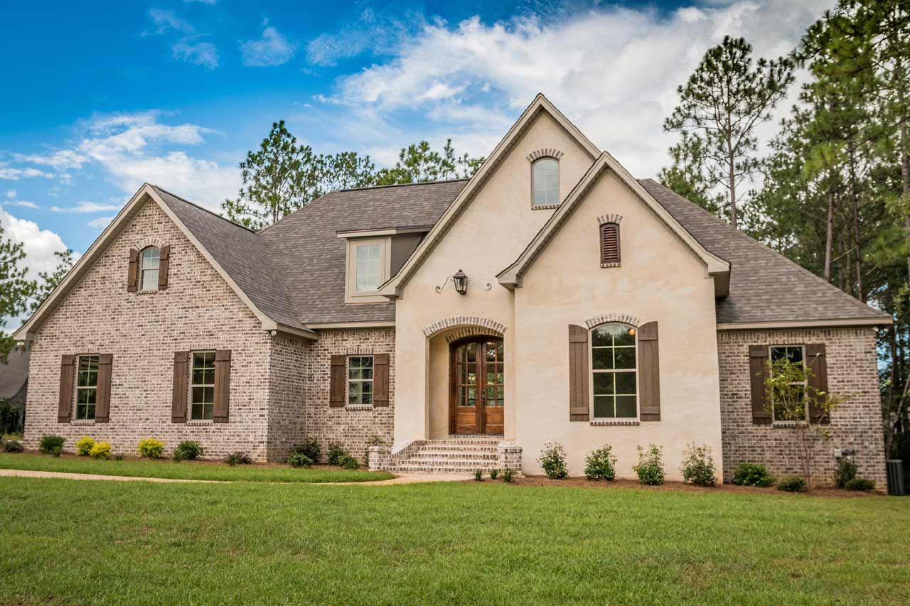 French-country Style Home Design Plan: 50-205