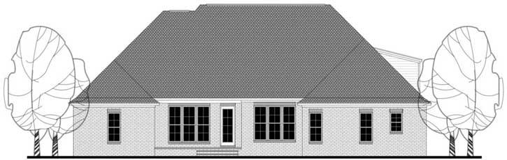 Rear Elevation Plan: 50-205