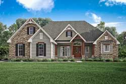 Country Style Home Design Plan: 50-212