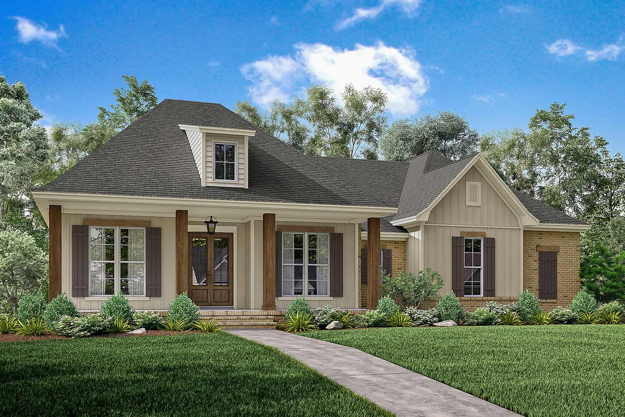 French-country House Plan - 3 Bedrooms, 3 Bath, 1900 Sq Ft ...