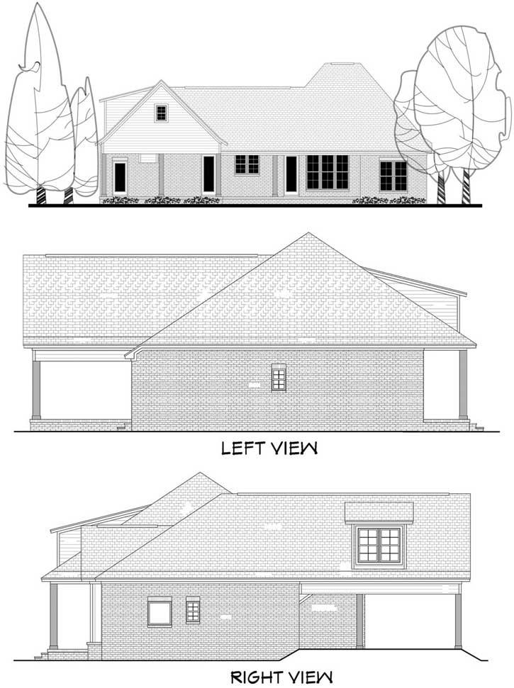 Rear Elevation Plan: 50-242