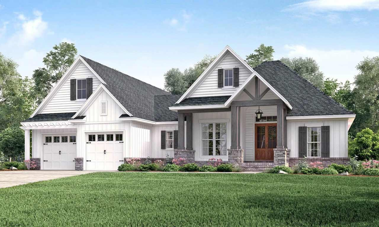 Craftsman House Plan - 3 Bedrooms, 2 Bath, 2073 Sq Ft Plan ... on