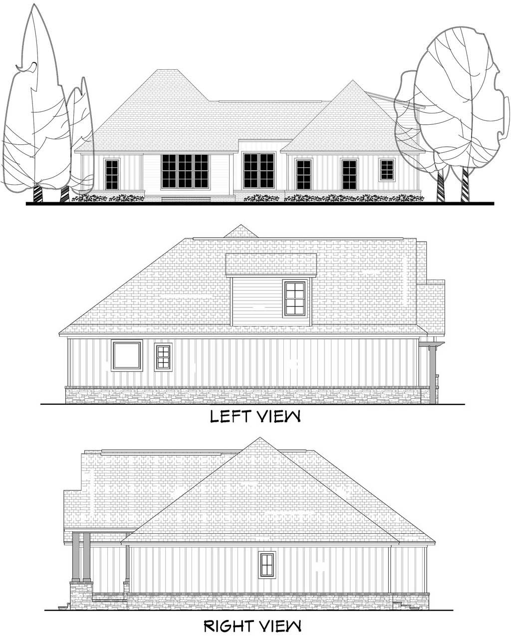 Rear Elevation Plan: 50-249