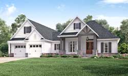 Craftsman Style Home Design Plan: 50-249