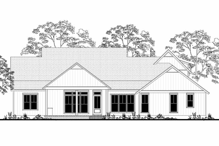 Rear Elevation Plan: 50-277