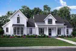 Modern-Farmhouse Style Home Design Plan: 50-277