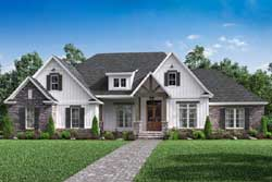 Modern-Farmhouse Style Home Design Plan: 50-281