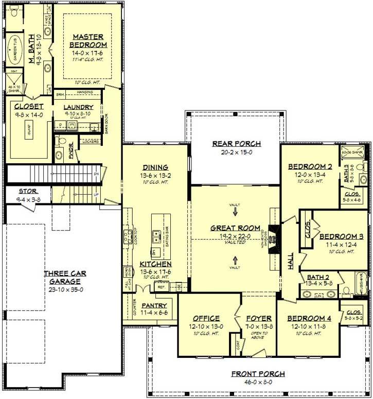 Modern-farmhouse Style Home Design 50-283