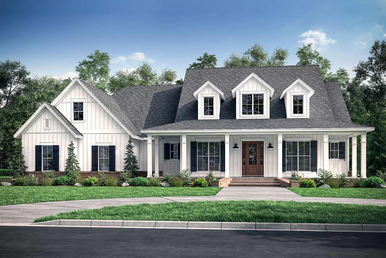 Modern-farmhouse Style House Plans Plan: 50-283