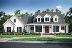 Modern-Farmhouse Style Home Design Plan: 50-283