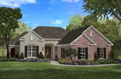 Southern Style Home Design Plan: 50-318