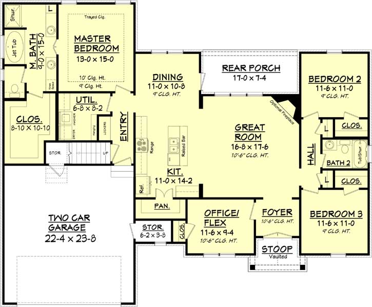 Main Floor Plan: 50-322