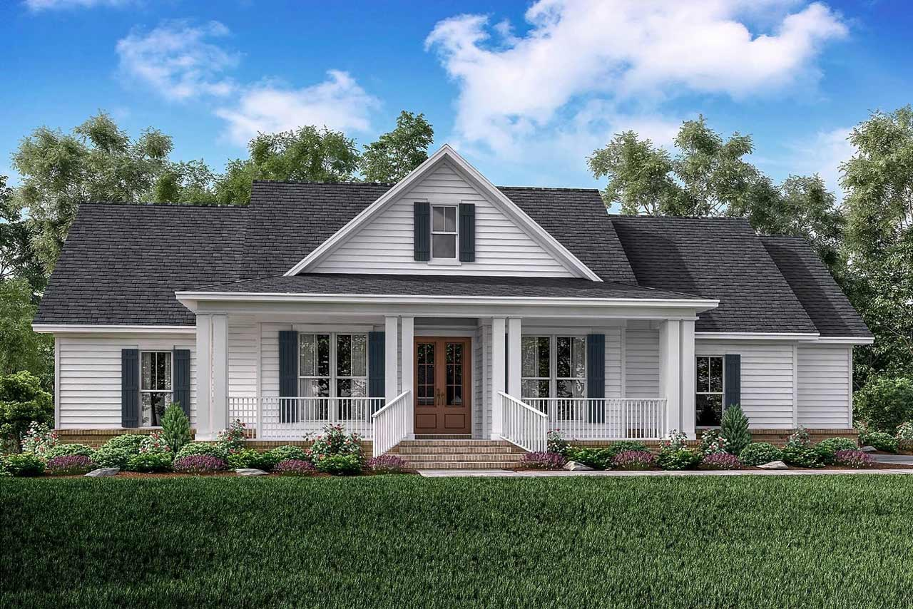 Modern-farmhouse Style Home Design Plan: 50-335