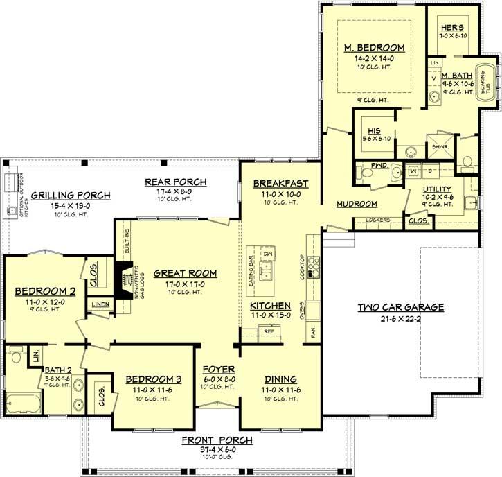 Main Floor Plan: 50-335