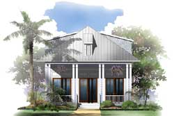 Coastal Style House Plans Plan: 50-340