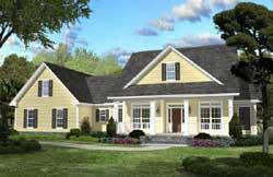 Modern-Farmhouse Style House Plans Plan: 50-342