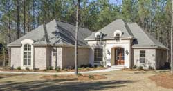 French-Country Style Home Design Plan: 50-345