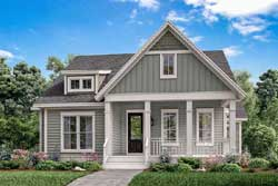 Craftsman Style Home Design Plan: 50-354