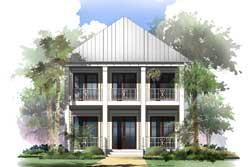 Coastal Style House Plans Plan: 50-369