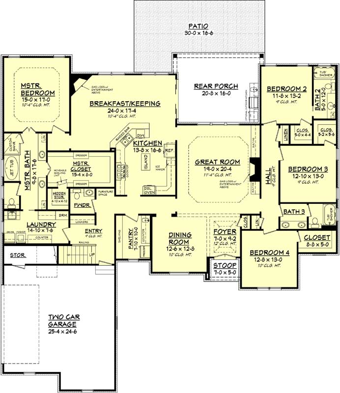 Main Floor Plan: 50-372