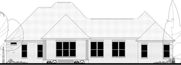 Rear Elevation Plan: 50-372