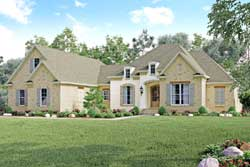 French-Country Style Floor Plans Plan: 50-372