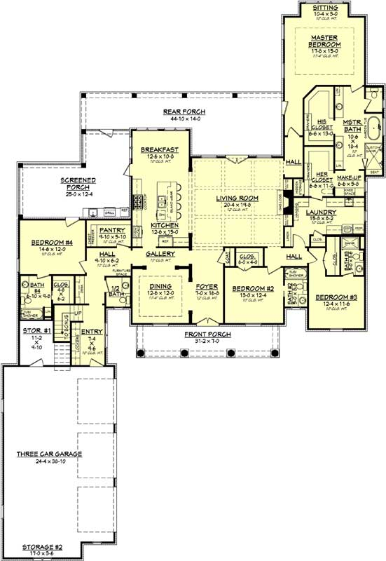 Main Floor Plan: 50-373