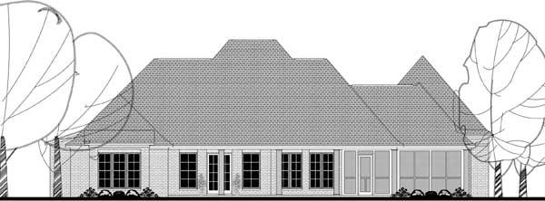 Rear Elevation Plan: 50-373