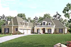 French-Country Style House Plans Plan: 50-373