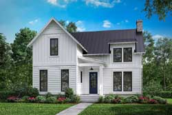 Modern-Farmhouse Style Home Design Plan: 50-377
