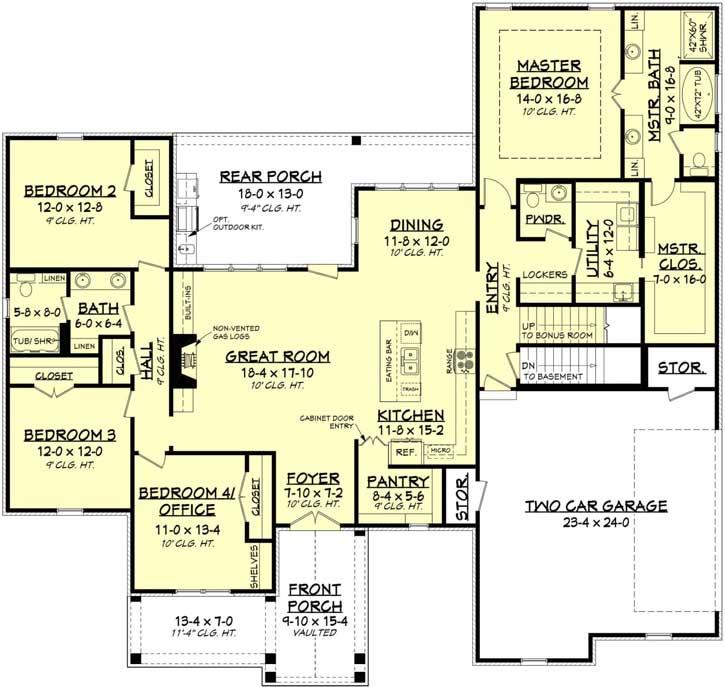 Modern-farmhouse Style Home Design 50-381